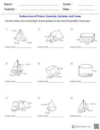 Surface Area And Volume Worksheets Grade 10 Free Worksheets ...