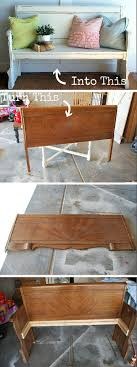 Bench Out Of Headboard 10 Amazing Diy Furniture Transformations
