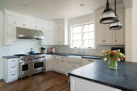 Kitchen Remodel White Cabinets Black Countertops Creative Home