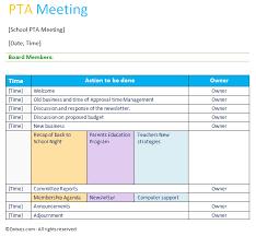 Agenda Template Word 2013 Professional Pta Meeting Agenda Template Meeting Agenda