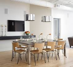contemporary dining room lighting contemporary modern. Modern Dining Room Lighting Ideas With Contemporary Drum Pendants For Houses Table O