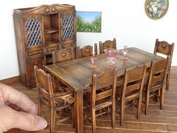 miniature dollhouse furniture woodworking. country dining set all made out of cherry wood by lynn jowers miniatures perfectly small miniature dollhouse furniture woodworking e