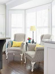 furniture for bay window. Bay Window With Reupholstered Wingback Chairs : Ways To Reupholster A Chair Furniture For O