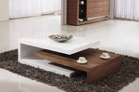charming low brown and white lacquered rectangle cherry wood coffee table
