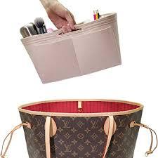 Felt Handbag Insert Organizer Zipper Pocket Bag In Bag