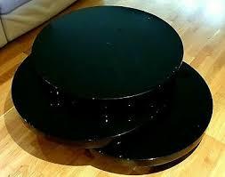 dwell round rotating coffee table black
