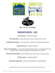 Bar Louie Power And Light District Restaurant Week Participating Restaurants