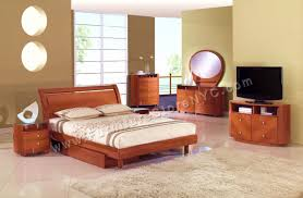 emily bedroom set light oak: emily bedroom set glossy cherry queen and king sets global