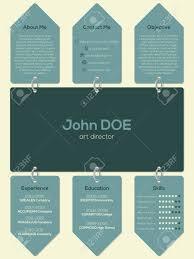 Modern Resume Cv Curriculum Vitae Template Design With Chain