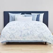 liaison duvet cover blue white 200 x 200 cm by fischbacher