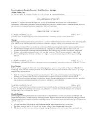 print sales resume small business management resume templates at