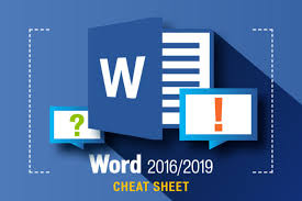 Microsoft Word Study Guide Template Word 2016 And 2019 Cheat Sheet Computerworld