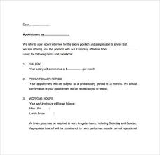 How To Write Appointment Letter 9 Appointment Letter Templates Word Excel Samples