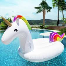 Best Choice Products Giant Rainbow Inflatable Unicorn Pool Float Toy