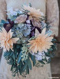 Wedding Paper Flower Centerpieces Diy Rustic Paper Flower Bridal Bouquet Deer Pearl Flowers