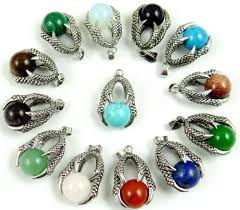 whole natural quartz crystal lapis tiger eye mix round gem stone bead dragon claw wrap pendants for women jewelry making necklace tanzanite pendant