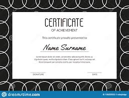 Certificate Outline Simple Minimalism Certificate With White Outline Circles On