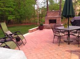 diy paver patio and outdoor fireplace reveal