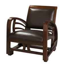 Brown Armchair Split Leather Armchair In Brown Charleston Maisons Du Monde