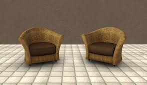 Second Life Marketplace Light Wicker Patio Chair