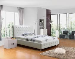 Leather Bedroom Suite Valencia Pu Leahter Bed In Full Black Or Full White Leather Bed