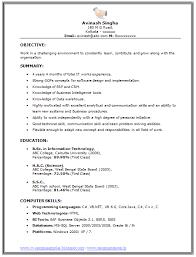... Bsc Computer Science Resume Model ...