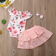 Designer Newborn Baby Girl Clothes Amazon Com 3pcs Floral Baby Dress Summer Newborn Baby Girl