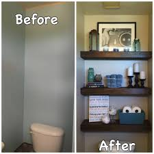 Bathroom Shelves Decorating Over The Toilet Decorating Home Pinterest Toilets Powder