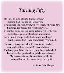 Turning 50 Quotes New Fifty Poems