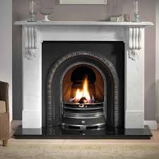 artisan barnwell highlight cast iron arched fireplace