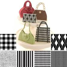 Autumn Carpenter Fabric Pattern Texture Sheet Impression Mat Set Of