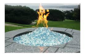 glass rock fire pit glass stone fire pit