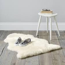 sheepskin rug single pelt ivory fur 2 x 3
