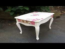 floral decoupage furniture. How To Decoupage Furniture With Napkins A Table Floral P