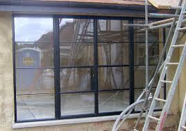 black steel replacement aluminium french door installation