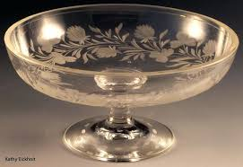 glass compote pedestal bowl unknown clover cut crystal compote glass compote pedestal bowl with lid