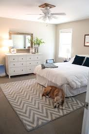 rug under bed hardwood floor. Rectangle White Grey Rugs With Zig Zag Pattern Decorated By And Wooden Vanity Table In Bedroom Area Rug Under How To Place Designs Astonishing Collection Bed Hardwood Floor E