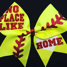 there 39 s no place like home softball. softball bow / no place like home hairbow fastpitch team /team there 39 s home