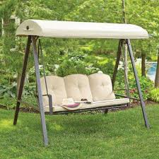 cunningham 3 person metal outdoor swing with canopy