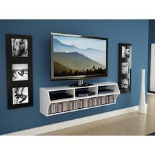 Wall Mounted Tv Frame White Wooden Wall Mounted Entertainment Center With Racks