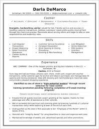 Outstanding Cashier Resume Sample Pics Of Resume Sample Examples
