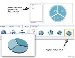 3d Circular Flow Diagram In Powerpoint Using Shapes