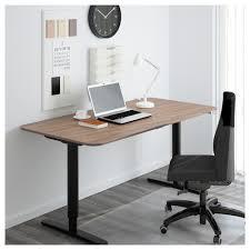 office desk at ikea. Latest Computer Desks At Ikea Regarding Bekant Desk Sit/stand \u2013 Black Brown/white Office
