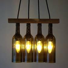 diy wine bottle chandelier creative ideas for lighting fixtures kitchen and barrel