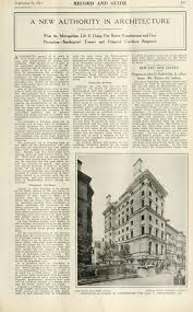 september 14 1912 record and guide 487 a new authority in architecture what the metropolitan