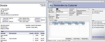 Microsoft Office Access Templates Access Templates Work Orders Invoice Services Management Database