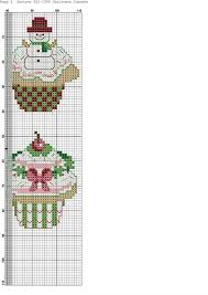 Cupcakes De Noel Cs Food Cupcake Cross Stitch Cross