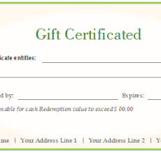Free Customizable Gift Certificate Template Gift Certificate Template Word 2007 228013585794 Gift Certificate