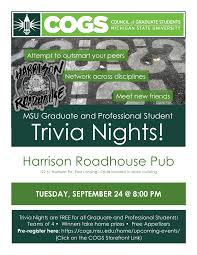 Cogs Hosts Trivia Night At Harrison Roadhouse Pub Council