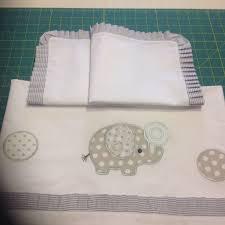 Lenzuola lettino da ricamare punto croce: per lenzuolo
